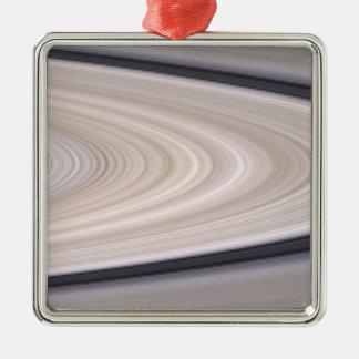 Saturn's ring system metal ornament