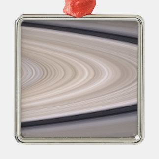 Saturn's ring system square metal christmas ornament