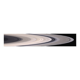 Saturn's ring system photo print