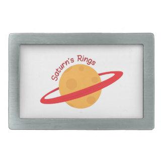Saturns Rings Rectangular Belt Buckles