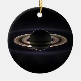 Saturn's rings ceramic ornament