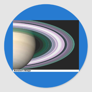 Saturns Rings Classic Round Sticker