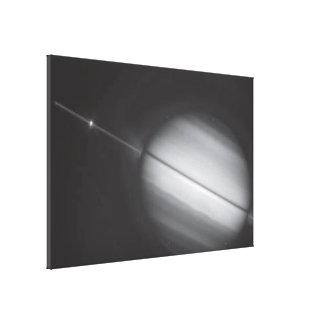 Saturn's Rings Edge-on Canvas Print