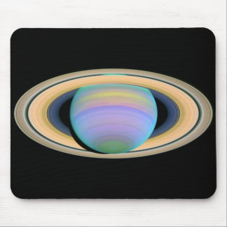 Saturn's Rings in Ultraviolet Light Mouse Pad