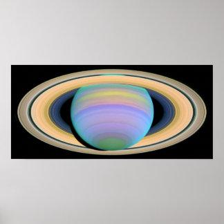 Saturn's Rings in Ultraviolet Light Poster
