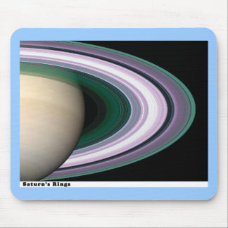Saturns Rings Mouse Pad