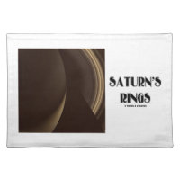 Saturn's Rings (Photo Of Saturn Rings) Cloth Place Mat