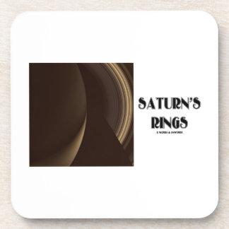 Saturn's Rings (Photo Of Saturn Rings) Coaster