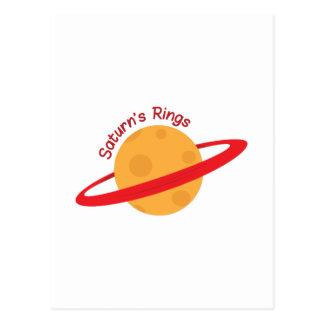 Saturns Rings Postcard