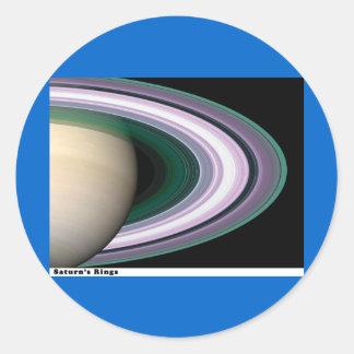 Saturns Rings Round Sticker