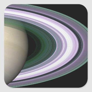 Saturn's Rings Square Sticker