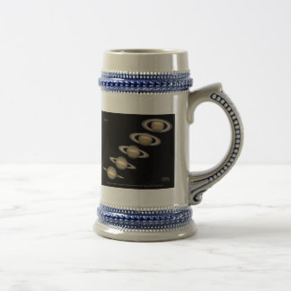 Saturn's Rings tilt 1996-2000 Astronomy Gifts Beer Stein