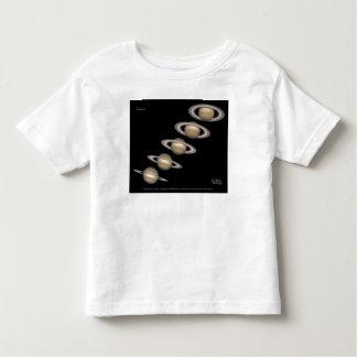 Saturn's Rings tilt 1996-2000 Astronomy Gifts Toddler T-shirt