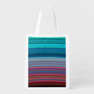 Saturn's Ultra-Violet Rings Grocery Bag