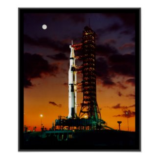 SaturnV Rocket Poster print