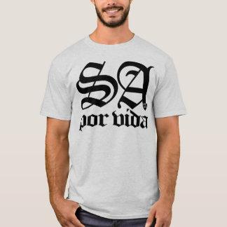 SATX POR VIDA 210 for Life Old English Black T-Shirt