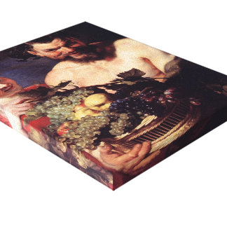 Satyr and Girl by Peter Paul Rubens Gallery Wrapped Canvas