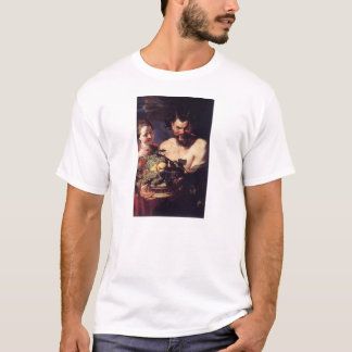 Satyr and Girl by Peter Paul Rubens T-Shirt