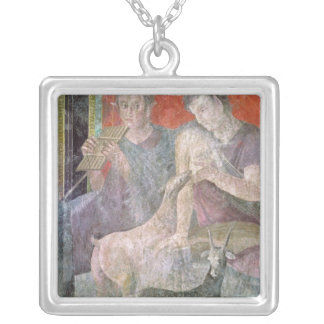 Satyr and Nymph Silver Plated Necklace
