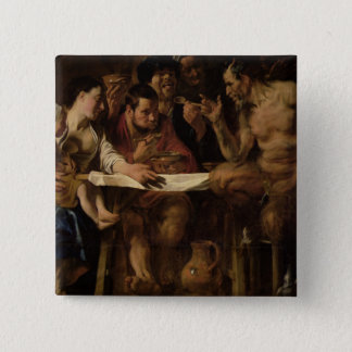 Satyr and Peasant, 1620 Button