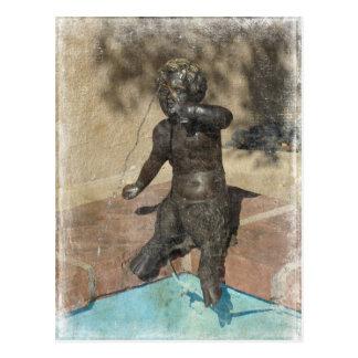 Satyr Fountain, Kansas City Plaza Postcard