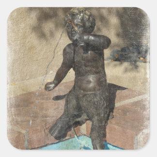 Satyr Fountain Square Sticker