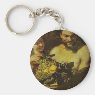 Satyr Girl with Basket of Fruit by Jacob Jordaens Key Chains