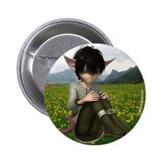 Satyr in Field  Button