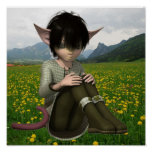 Satyr in Field Poster
