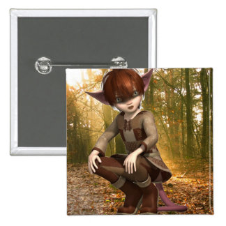 Satyr in Forest Button