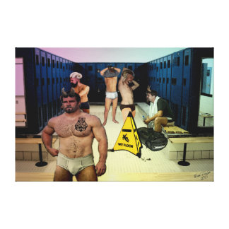 Satyr Locker Room on Wrapped Canvas