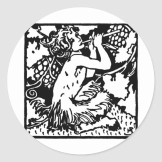 satyrs-1 classic round sticker