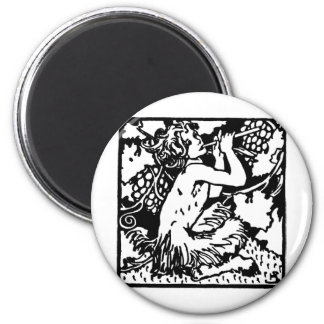 satyrs 2 inch round magnet