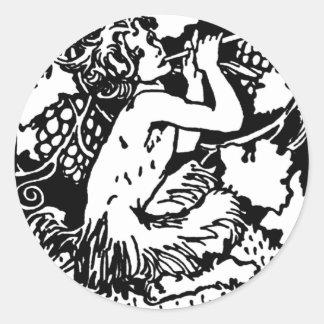 satyrs classic round sticker