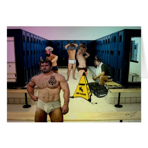 Satyrs Locker Room Card with Message Inside