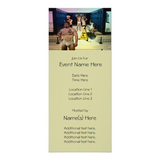 "Satyrs Locker Room Custom Party Invitations 4"" X 9.25"" Invitation Card"