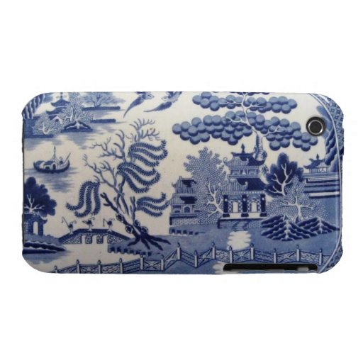 Sauce azul del siglo XIX tradicional Chinaiphone3 iPhone 3 Case-Mate Coberturas