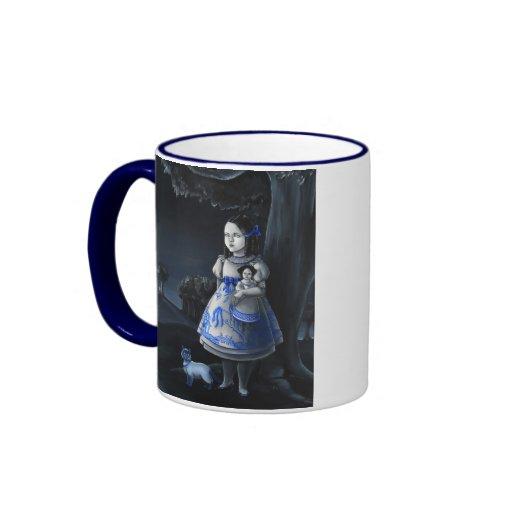 Sauce azul taza de dos colores