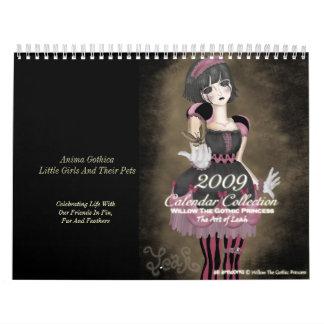 Sauce de 2009 calendarios la princesa gótica