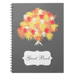 Sauce de la caída del árbol moderno cuadernos