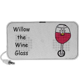 Sauce los altavoces de la copa de vino