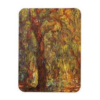 Sauce que llora de Claude Monet, bella arte del Imanes Flexibles