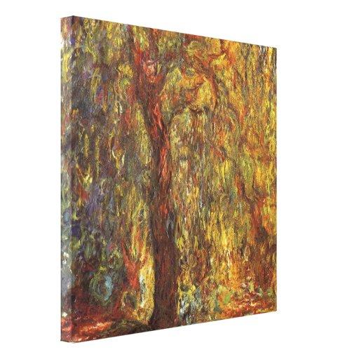 Sauce que llora de Claude Monet, bella arte del Lona Envuelta Para Galerías