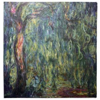 Sauce que llora de Claude Monet Servilleta Imprimida
