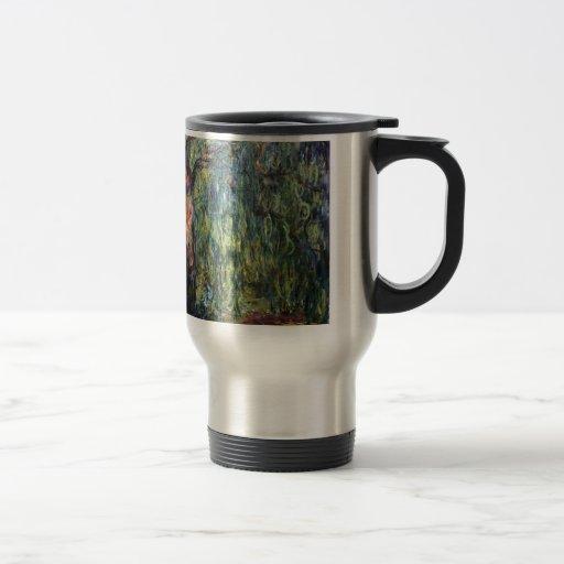 Sauce que llora de Claude Monet Tazas De Café