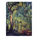 Sauce que llora II de Monet, impresionismo del Postal
