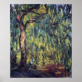 Sauce que llora II de Monet impresionismo del vin Poster