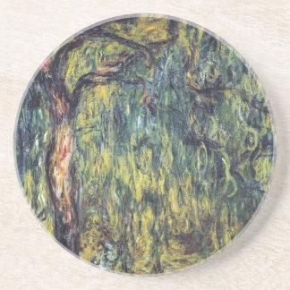 Sauce que llora II de Monet impresionismo del vin Posavasos Personalizados
