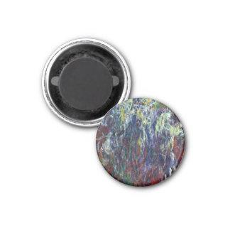 Sauce que llora, pintura de Giverny Claude Monet Imán Redondo 3 Cm