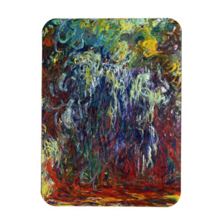 Sauce que llora, pintura de Giverny Claude Monet Imanes Rectangulares